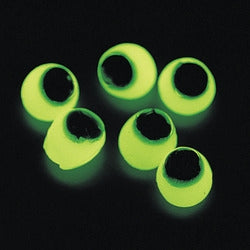 12 Glow In The Dark Sticky Eyeballs - Wholesale Vending Products