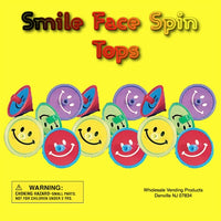 "250 Smile Face Spin Tops In 2"" Capsules - Wholesale Vending Products"
