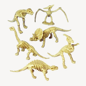 12 Skeleton Dinosaur Figures - Wholesale Vending Products