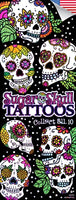 300 Sugar Skull Temporary Tattoos In Folders - FREE DISPLAY! - Wholesale Vending Products