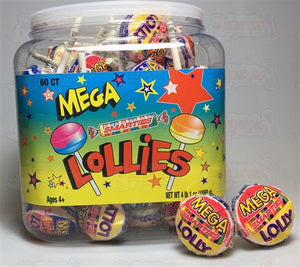 Smarties Mega Lollies - 60 Count Tub