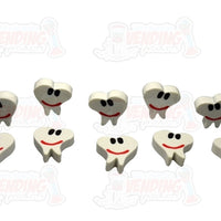 48 Smile Face Teeth Erasers - Wholesale Vending Products