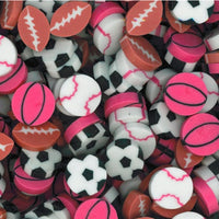 "144 Bulk .75"" Sports Erasers - Wholesale Vending Products"