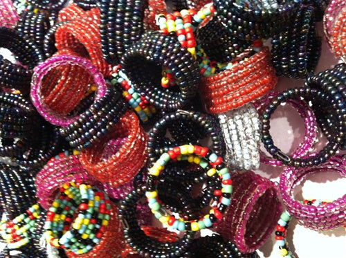 144 - 6 Row Seed Bead Ring - Wholesale Vending Products