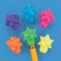 144 Star Eraser Pencil Toppers - Wholesale Vending Products