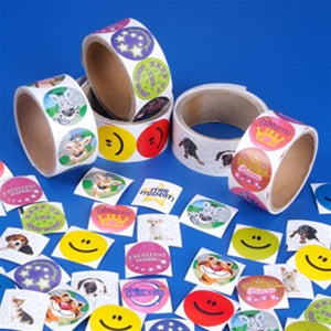 500 (5 Rolls Of 100) Stickers - Wholesale Vending Products