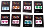 144 (1 Gross) Stick On Earrings Gems - Wholesale Vending Products