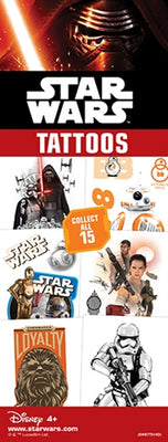 300 Starwars Force Awakens Temporary Tattoos In Folders - FREE DISPLAY!