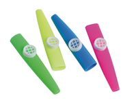 "12 - Assorted Color Large 4"" Kazoos - Wholesale Vending Products"