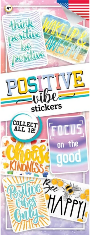 Positive Vibes Stickers in Folders (300 pcs) - Display Included