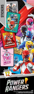 Power Rangers Stickers in Folders (300 pcs) - Display Included