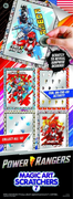 Power Rangers Magic Art Scratchers in Folders (300 pcs) - Display Included