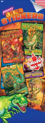 Mighty Dino Stickers in Folders (300 pcs) - Display Included