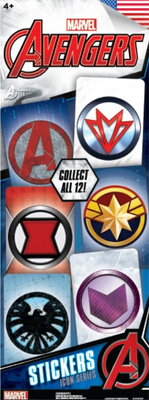 Marvel Avengers Icon Stickers in Folders (300 pcs) - Display Included