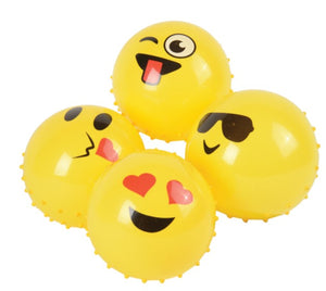 "12 Emoji Knobby Balls - 5"" - Wholesale Vending Products"