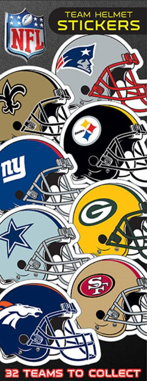 NFL Helmet Stickers in Folders (300 pcs) - Display Included - Wholesale Vending Products