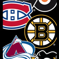 NHL Die Cut Logo Stickers in Folders (300 pcs) - Display Included - Wholesale Vending Products