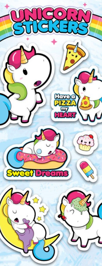 Unicorn Stickers in Folders (300 pcs) - Display Included - Wholesale Vending Products
