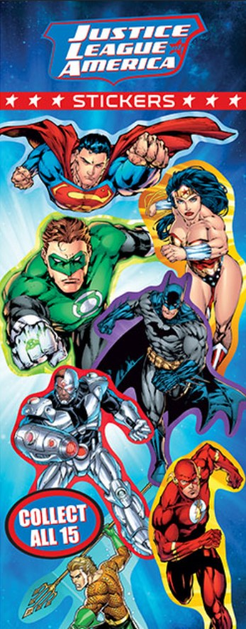 DC Superheroes Stickers in Folders (300 pcs) - Display Included - Wholesale Vending Products