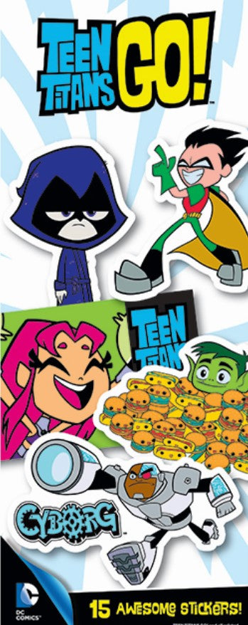 Teen Titans Go! Series 1 Stickers in Folders (300 pcs) - Display Included
