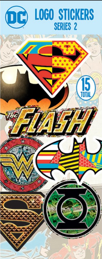 DC Comics Logo Stickers in Folders (300 pcs) - Display Included - Wholesale Vending Products