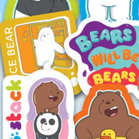We Bare Bears Stickers in Folders (300 pcs) - Display Included - Wholesale Vending Products