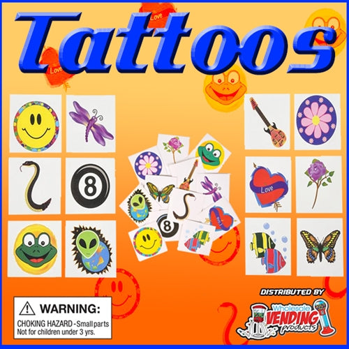 "250 2"" Capsuled Tattoos - Wholesale Vending Products"
