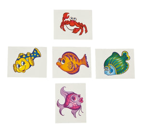 72 Tropical Fish Tattoos - Wholesale Vending Products