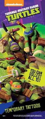 300 Teenage mutant Ninja Temporary Tattoos In Folders - FREE DISPLAY!