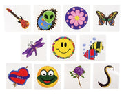 144 Assorted Temporary Tattoos Great For Parties! KIDS!