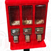 Metal Triple Section Bulk Vending Machine Candy/Gumball Dispenser - Wholesale Vending Products