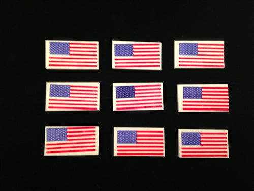36 USA Flag Erasers - Wholesale Vending Products