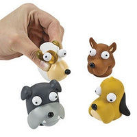 6 Vinyl Dogs With Pop-Out Eyes - Wholesale Vending Products