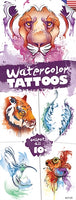 300 Watercolor Temporary Tattoos In Folders - FREE DISPLAY!
