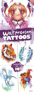 300 Watercolor Temporary Tattoos In Folders - FREE DISPLAY! - Wholesale Vending Products