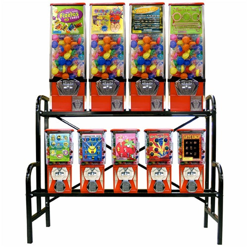 Extra Large  Vending Rack Mounts 4 Large & 5 Small Vendors or 10 Small Vendors - Wholesale Vending Products