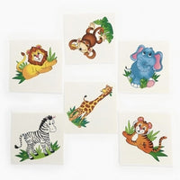 72 Zoo Animal Tattoos - Wholesale Vending Products