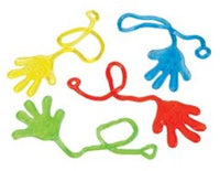 "(100 Packs) 12 Sticky Hands 7.5"" - Wholesale Vending Products"