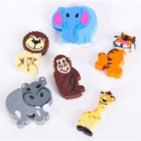 144 Mini Zoo Animal Eraser - Wholesale Vending Products