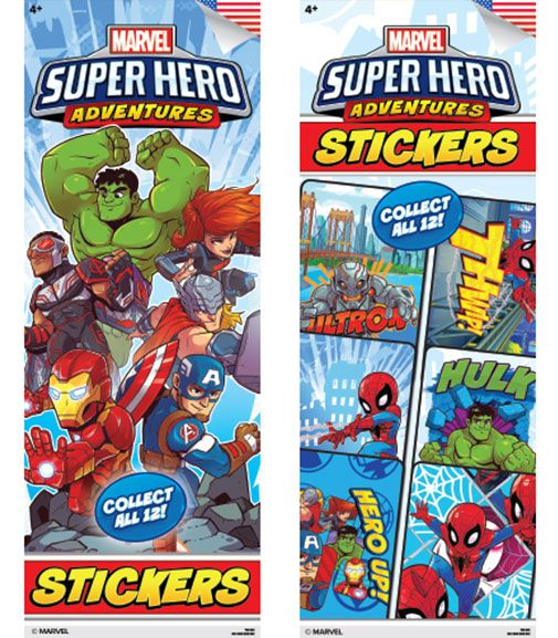 300 Avengers Super Hero Adventures Stickers In Folders - Display Included - Wholesale Vending Products
