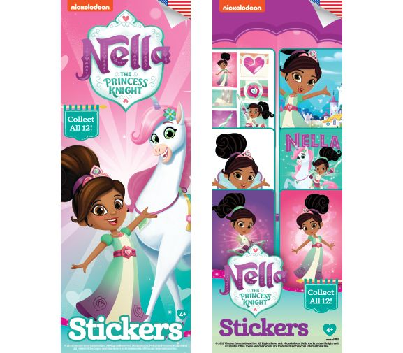 300 Nella The Princess Knight Stickers In Folders  - Display Included - Wholesale Vending Products
