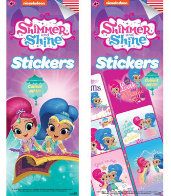 300 Shimmer & Shine Stickers - Display Included - Wholesale Vending Products