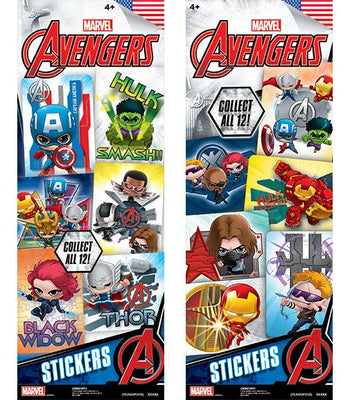 300 Marvel Avengers TeamUp 2 Stickers In Folders - FREE DISPLAY! - Wholesale Vending Products