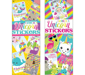 300 I Wanna Be A Unicorn Stickers - Display Included - Wholesale Vending Products