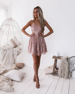 alley chic - clara dress - pink - sexy dress - party dress - occasion dress