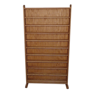 honey oak finish model 1002-3 CD storage cabinet