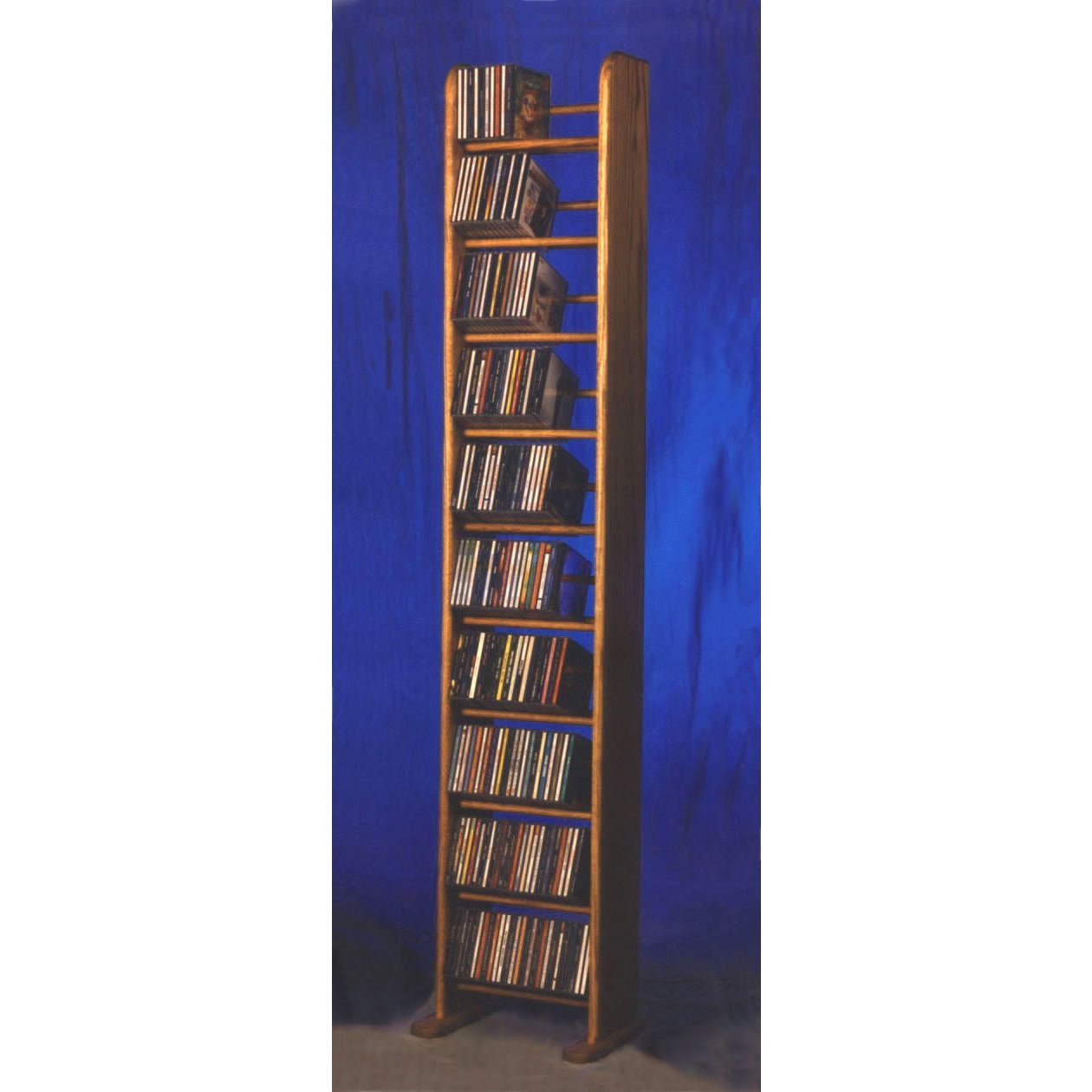 Model 1004 CD Storage Rack - honey oak