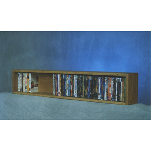 Model 110-4 W VHS & DVD Storage Cabinet - honey oak