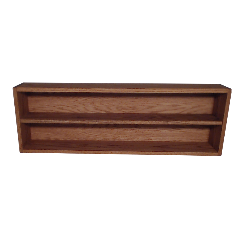 "Model 2086-3 Collectible Display Shelf - (2) 5"" Shelves - 6"" Openings - 39"" Wide"
