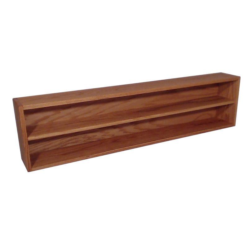 "Model 203-4 Collectible Display Shelf - (2) 6"" Shelves - 6"" Openings - 52"" Wide"